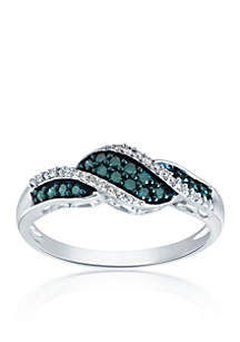 0.20 ct. t.w. Blue Diamond Ring in Sterling Silver