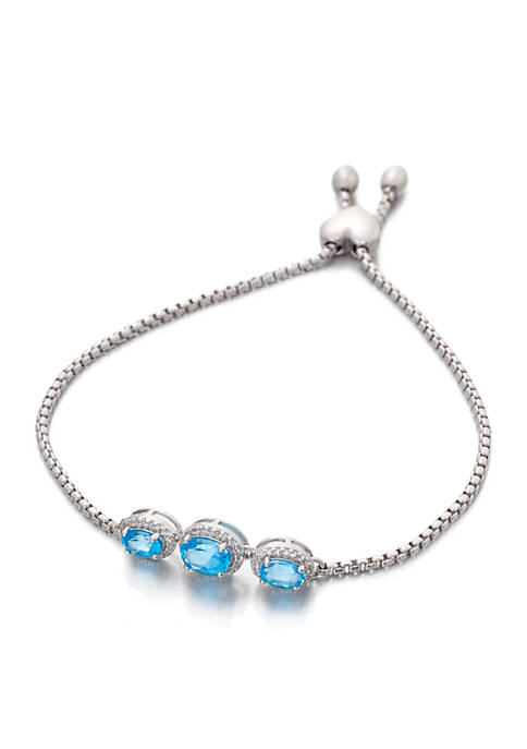 Belk & Co. Blue Topaz Bracelet in Sterling