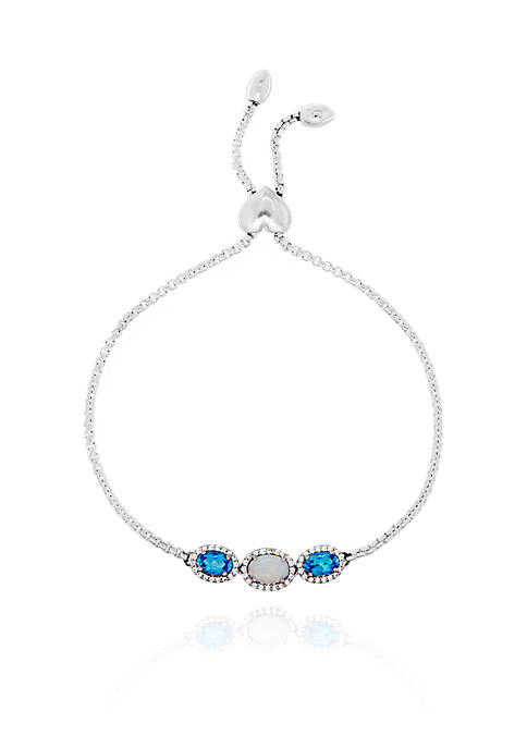 Belk & Co. Created Opal, Blue Topaz, and