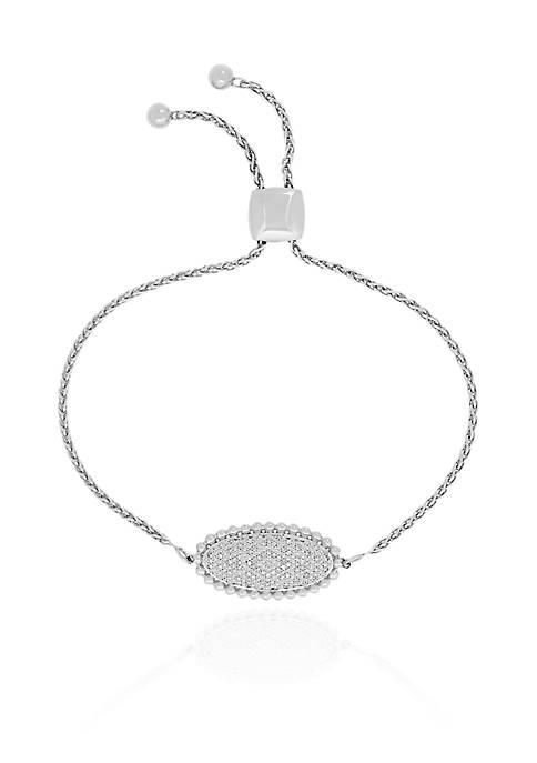 Belk & Co. Diamond Marquise Bracelet in Sterling