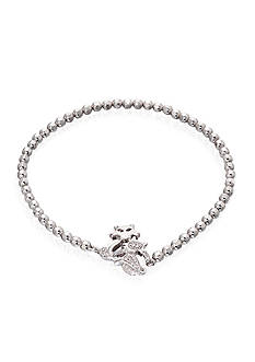Belk & Co. Diamond Cat Bracelet in Sterling Silver