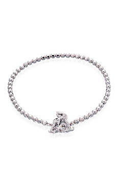Belk & Co. Diamond Dog Bracelet in Sterling Silver