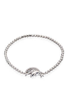 Belk & Co. Diamond Dolphin Bracelet in Sterling Silver