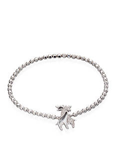 Belk & Co. Diamond Giraffe Bracelet in Sterling Silver