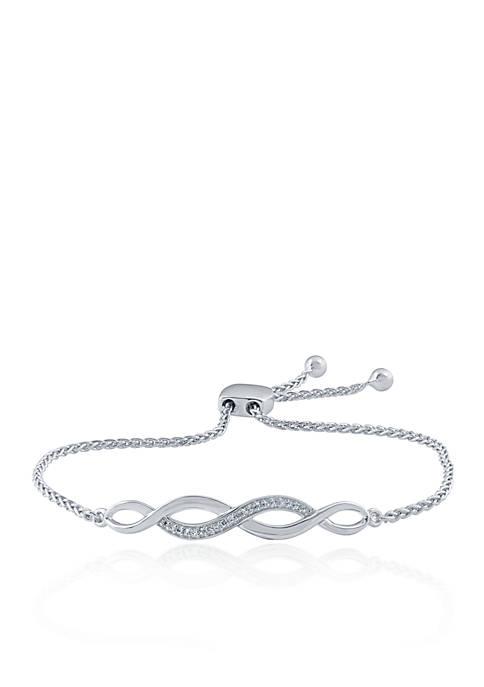 0.10 ct. t.w. Diamond Bracelet in Sterling Silver