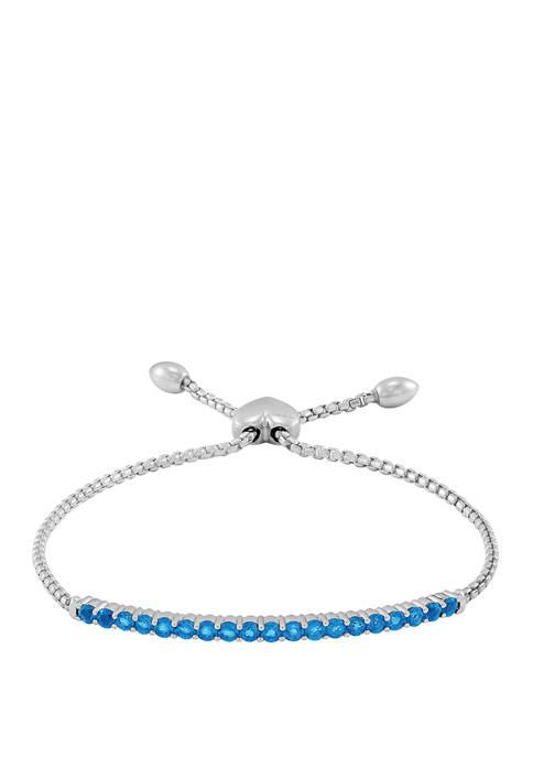 1.52 ct. t.w. Swiss Blue Topaz Bracelet in Sterling Silver