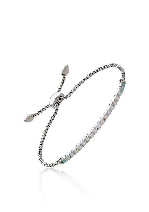 Belk & Co. Created Opal Bracelet in Sterling