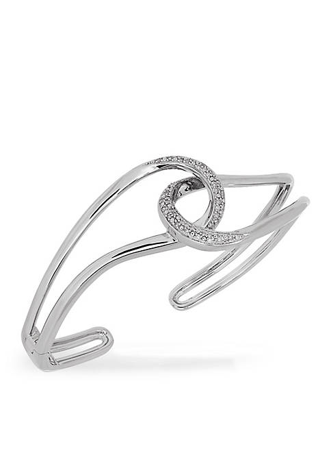 Belk & Co. Diamond Loopy Cuff Bracelet in