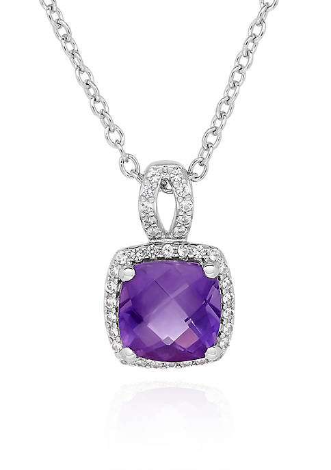Belk & Co. Amethyst & Created White Sapphire