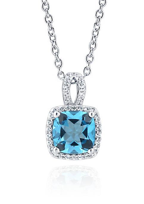 Belk & Co. Blue Topaz and Sapphire Pendant