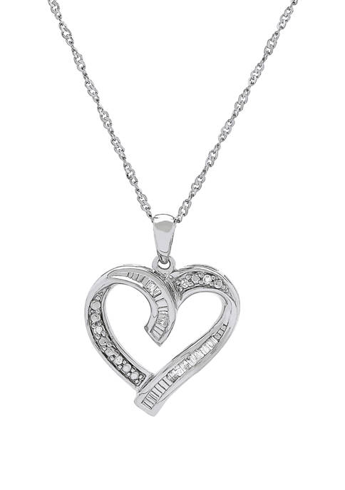 Belk & Co. Diamond Heart Pendant in Sterling