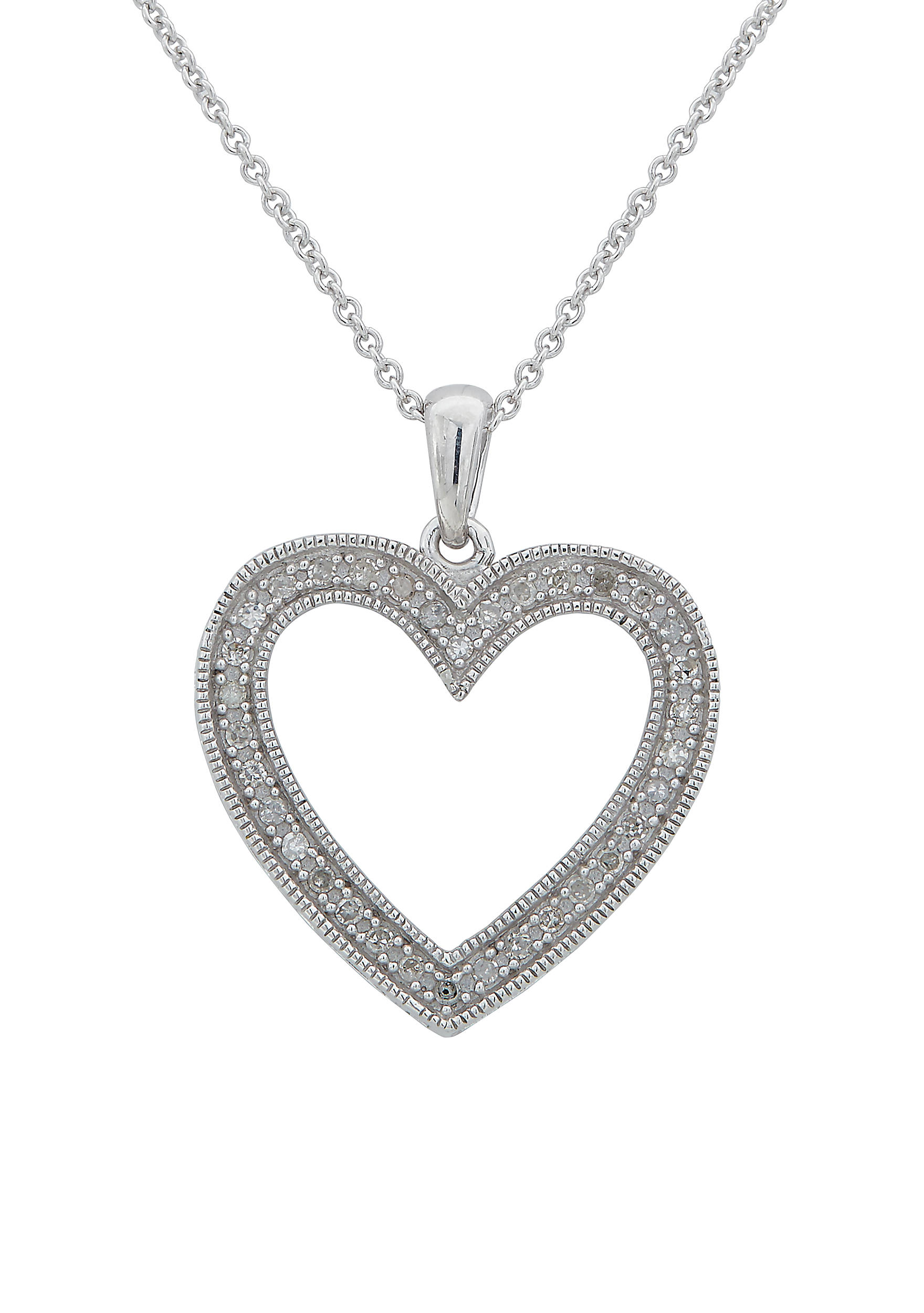 Belk co sterling silver diamond heart pendant necklace belk sterling silver diamond heart pendant necklace 5400453sjx44372fch images mozeypictures Choice Image
