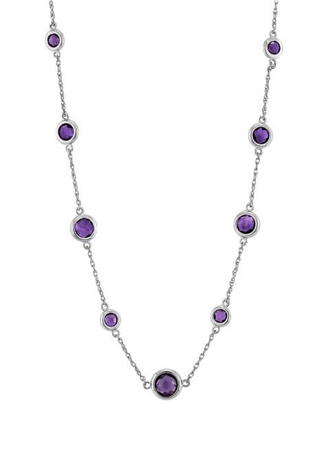 Belk & Co. Amethyst Necklace in Sterling Silver