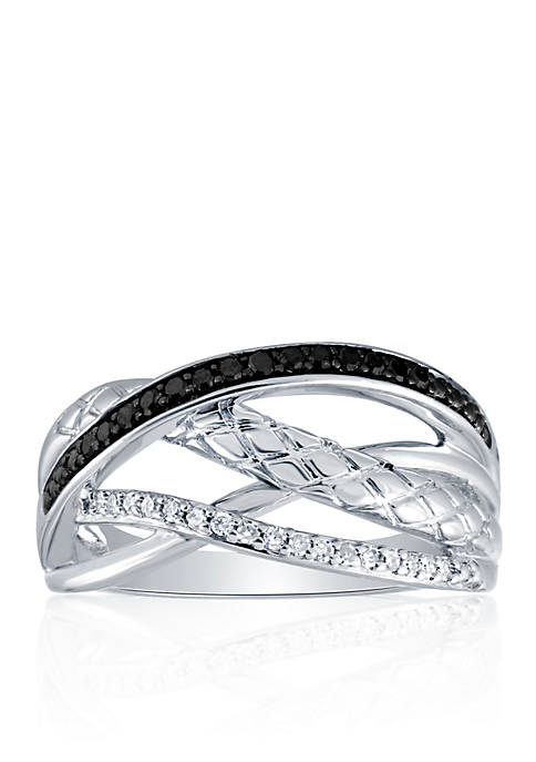 0.20 ct. t.w. Diamond Band in Sterling Silver
