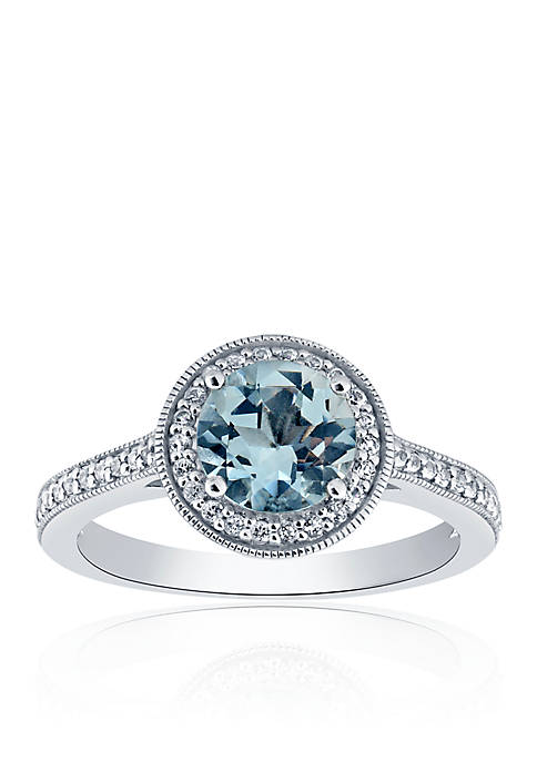 Belk & Co. Aquamarine & White Topaz Ring