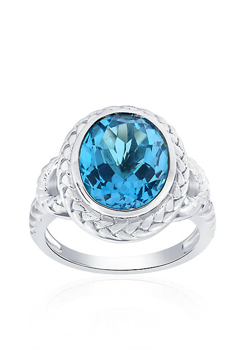 Belk & Co. Blue Topaz Ring in Sterling
