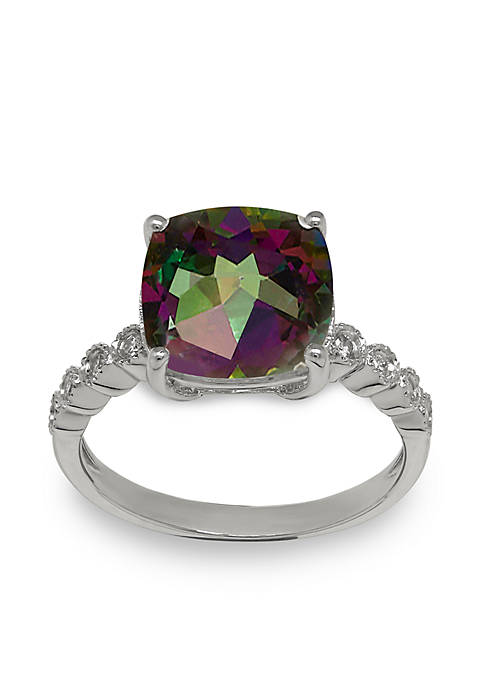 Belk & Co. Topaz and Diamond Ring in