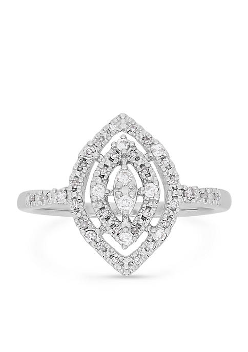 Belk & Co. Diamond Marquise Ring in Sterling