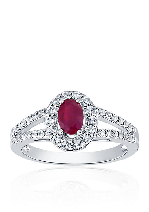 Belk & Co. Ruby & Diamond Ring in