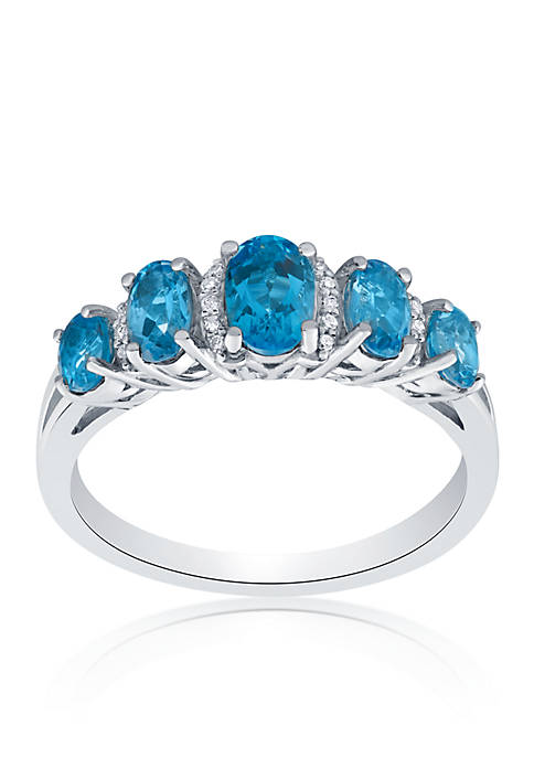 Belk & Co. Blue Topaz and Diamond Ring