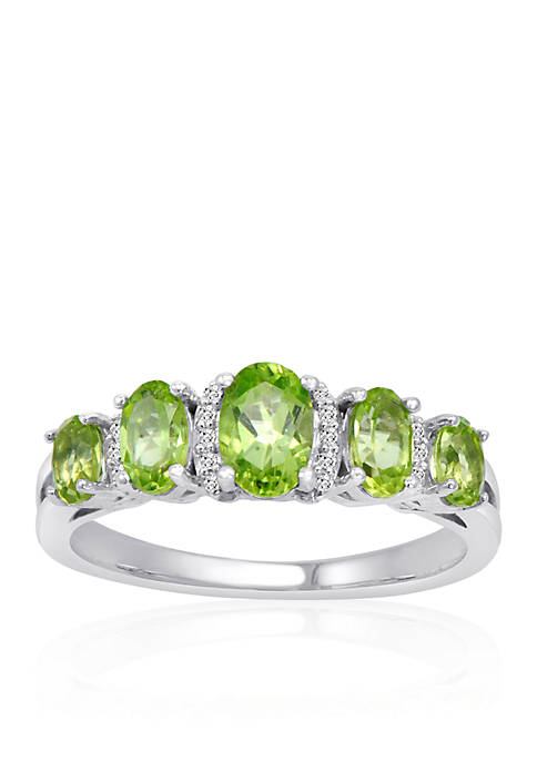 Belk & Co. Peridot & Diamond Band Ring