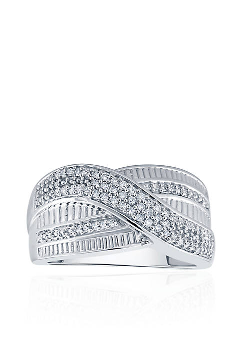 .142 ct. t.w.  Diamond Band in Sterling Silver