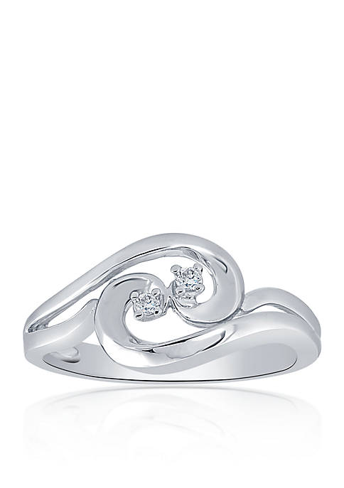 0.04 ct. t.w. Diamond Swirl Ring in Sterling Silver