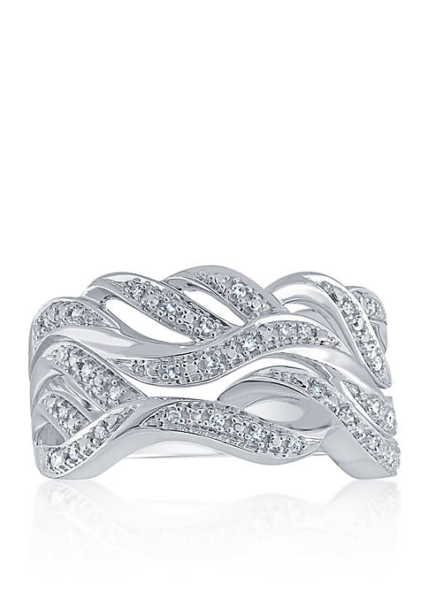 Diamond Band in Sterling Silver