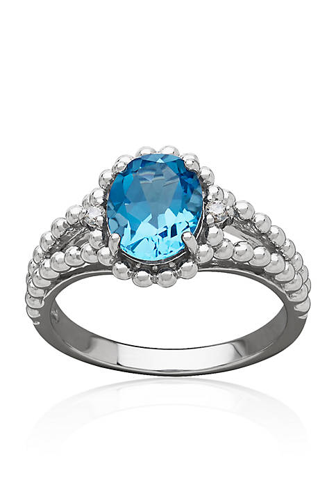 Belk & Co. Blue Topaz & Diamond Ring