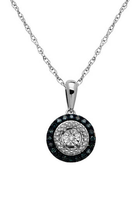 1/8 ct. t.w. Diamond Pendant Necklace in Sterling Silver