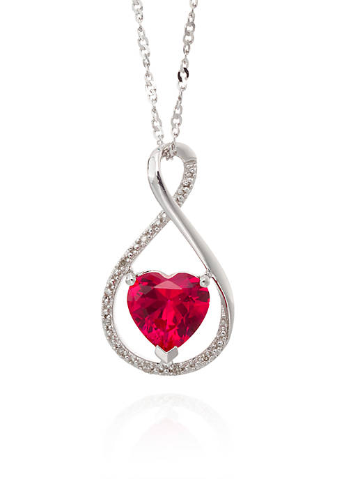 Belk & Co. Created Ruby & Diamond Pendant