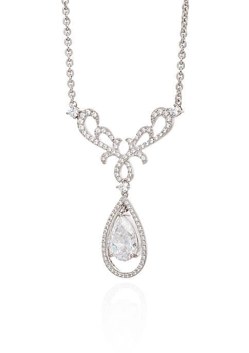 Belk & Co. Cubic Zirconium Promise Y Necklace
