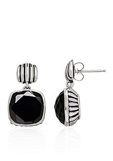 Belk & Co. Onyx Dangle Earrings in Sterling Silver