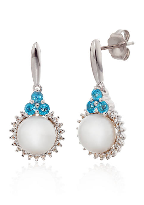 Belk & Co. Freshwater Pearl and Blue Topaz