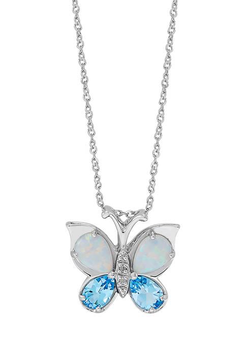 Belk & Co. Blue Topaz & Created Opal