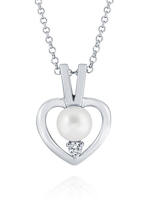 Belk & Co. Freshwater Pearl Heart Necklace in