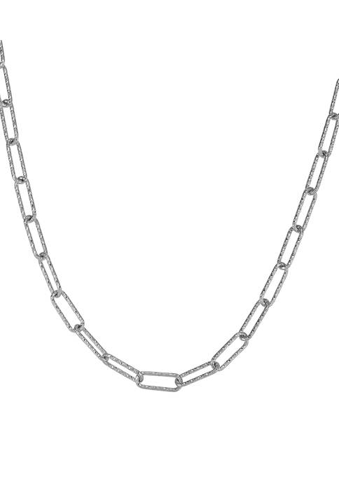 Belk & Co. Paperclip Chain Necklace in Sterling
