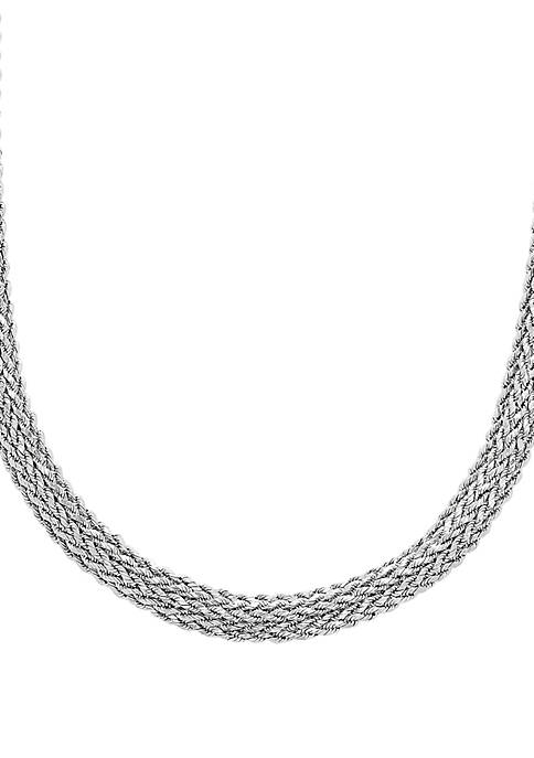 Sterling Silver Polished Diamond Cut Domed Necklace