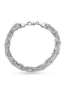 Sterling Silver Strand Bead Bracelet