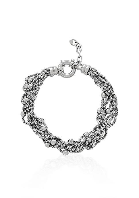 Sterling Silver Multi-Strand Twist Bracelet