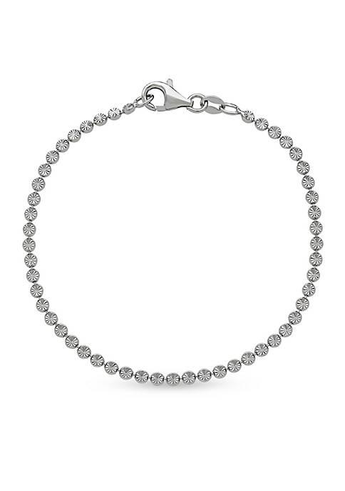 Belk & Co. Sterling Silver Sparkling Link Bracelet