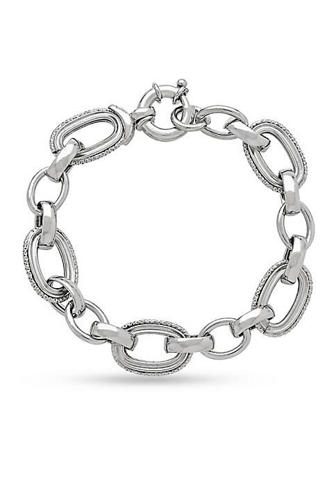 Sterling Silver Open Link Chain Bracelet