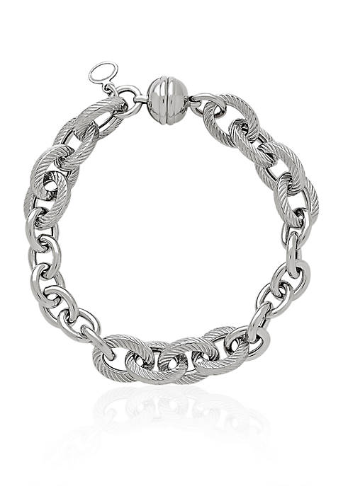 Belk & Co. Sterling Silver Rope Oval Link
