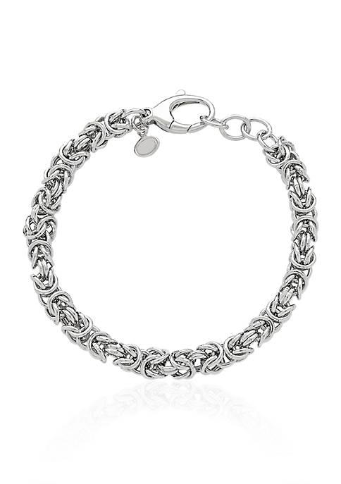 Belk & Co. Sterling Silver Polished Link Bracelet