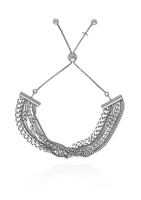 Belk & Co. Sterling Silver Multi Bolo Bracelet