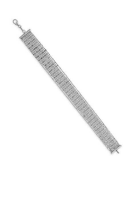 Belk & Co. Sterling Silver Multi Row Bracelet