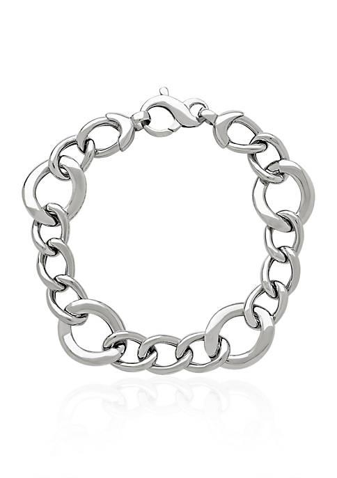 Belk & Co. Sterling Silver Round Link Bracelet
