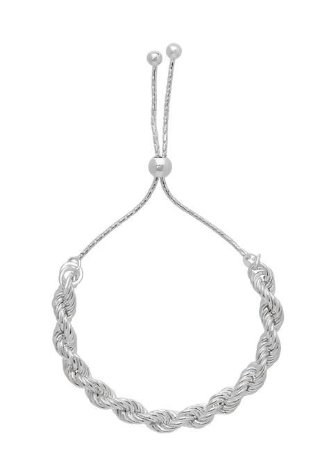 PDC Bolo Rope Bracelet in Sterling Silver