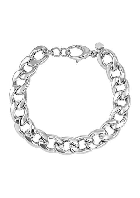 Belk & Co. Curb Chain Bracelet In Sterling