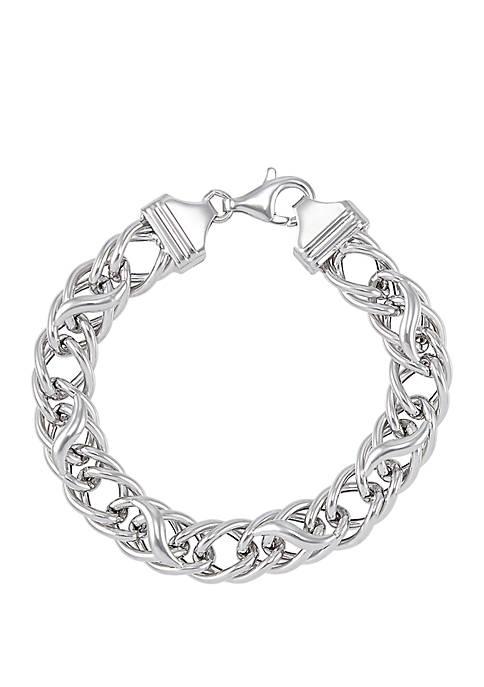 Belk & Co. Link Bracelet In Sterling Silver